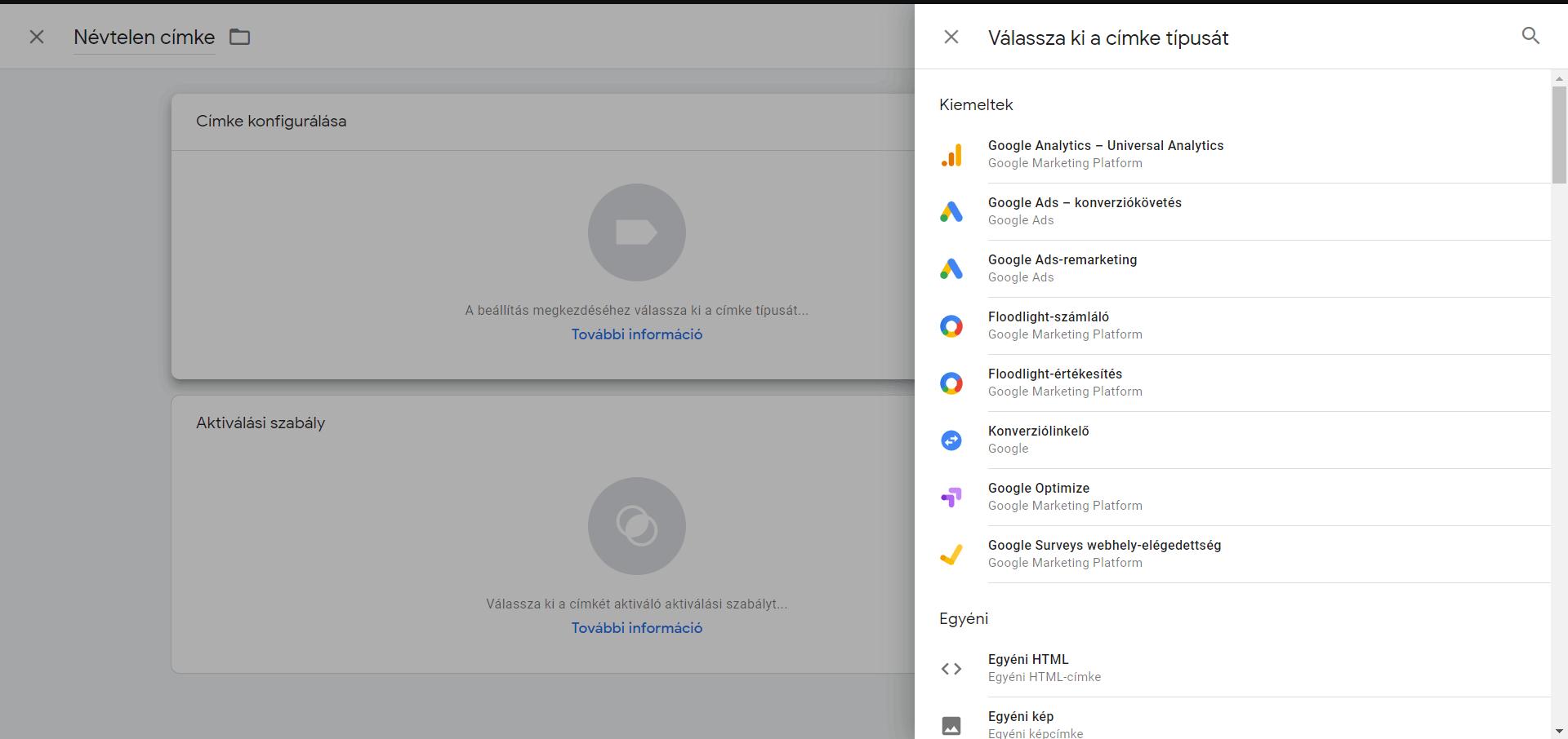 google tag manager schema beillesztés