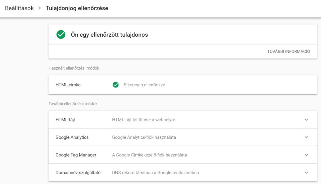 search console tulajdon hozzáadása