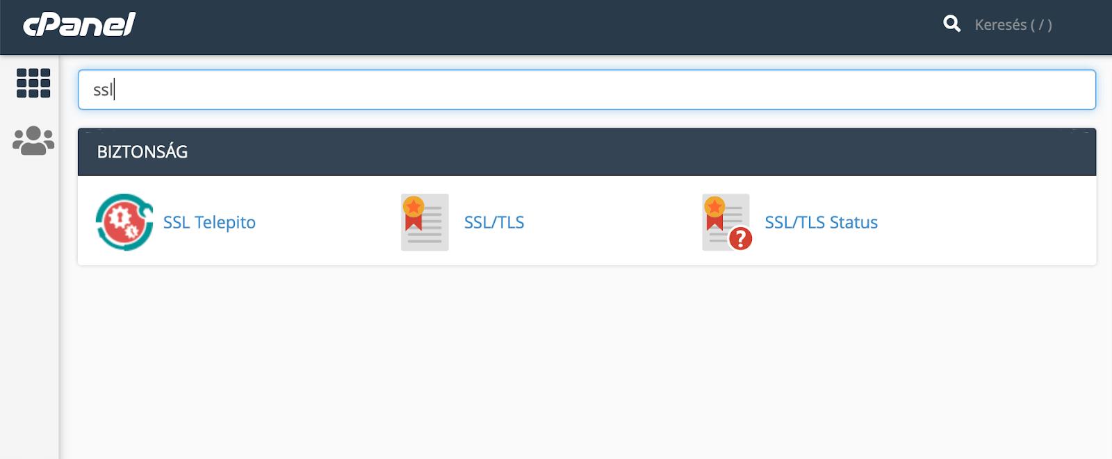 SSL beállítása