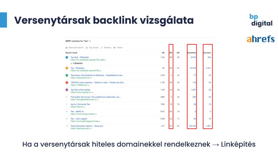 Backlink profil vizsgálat